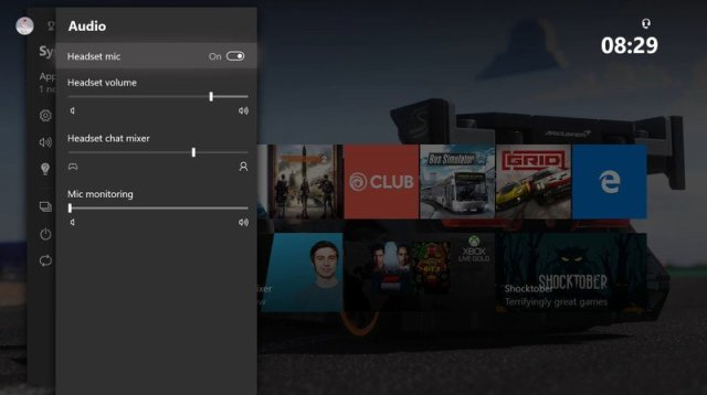 Xbox audio controls