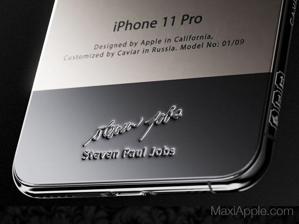 caviar iphone 11 pro superior jobs maxiapple 02 - iPhone 11 Pro en Hommage à Steve Jobs chez Caviar