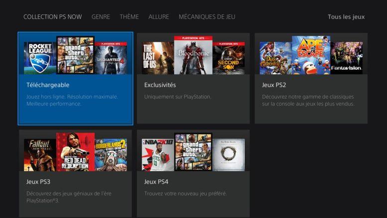 Les jeux PS2, PS3 et PS4 du PS Now