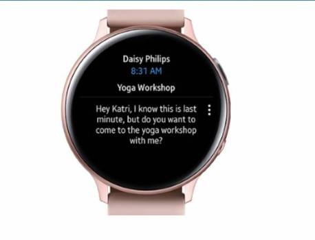 Outlook for Android now has support for Galaxy Watch