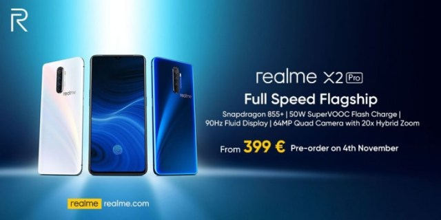 Realme X2 Pro European pre-orders scheduled to start on November 4