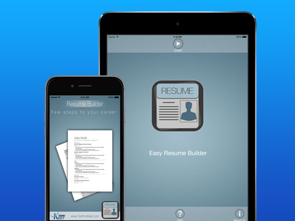 resume builder creator iphone ipad 3 - Resume Builder iPhone iPad - Générateur de CV Curriculum Vitae (gratuit)