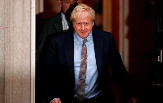 Le premier ministre britannique, Boris Johnson, à sa sortie du 10 Downing Street à Londres, jeudi 24 octobre.