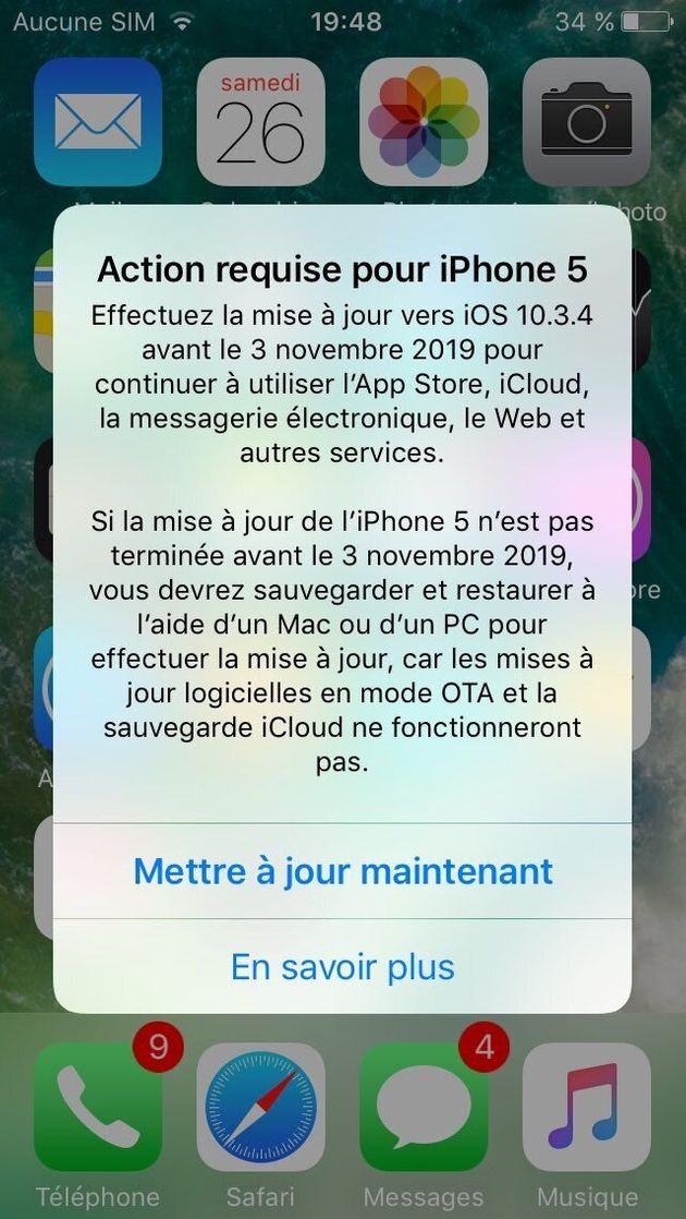 Les possesseurs d'anciens iPhone et iPad ont reçu une notification d'Apple les invitant à...