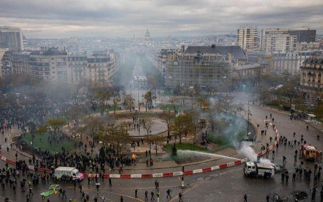 Les incidents les plus violents ont eu lieu place d'Italie dans le XIIIe arrondissement de la capitale./LP/Yann Foreix
