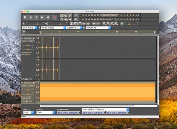 audacity mac macos gratuit 1 - Audacity Mac - Editeur Audio Complet et Performant (gratuit)