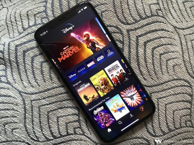 Disney+ on iPhone 11 Pro