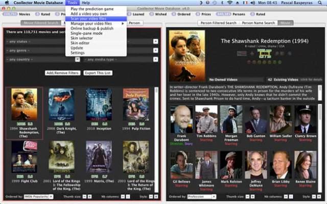 coollector macos mac gratuit 2 - Coollector Mac - Gestion de Films DVD et Séries TV (gratuit)