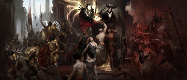 The archangel Inarius and the demon Lilith
