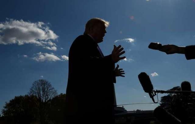 Le président américain, Donald Trump, face à la presse le 3novembre, à Washington.