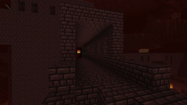 A Nether fortress
