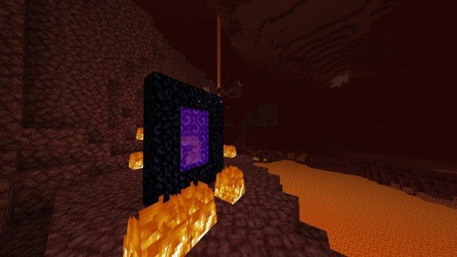 Nether portal in the Nether