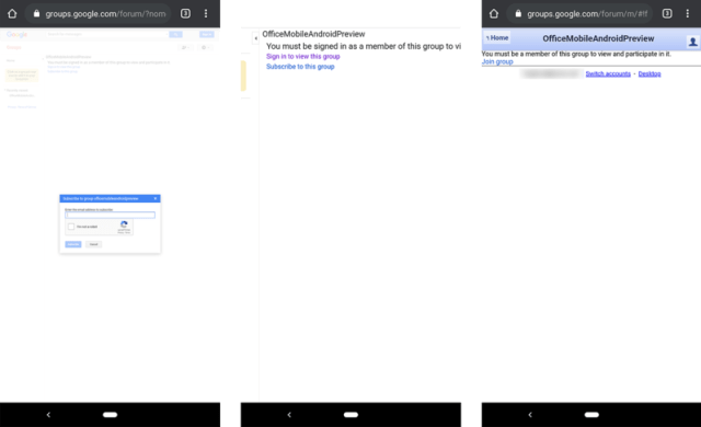 Microsoft Office Preview Android Setup
