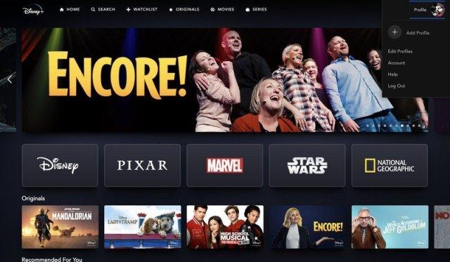 Disney+ website homepage