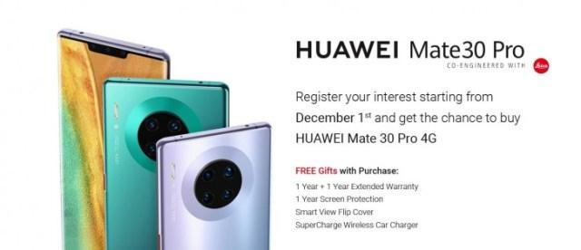 Huawei Mate 30 Pro arriving in UAE, pre-orders begin on December 1