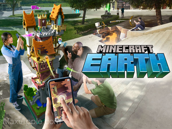 mojang jeu minecraft earth iphone ipad ios 01 - Jeu Minecraft Earth iPhone iPad en Réalité Augmentée Dispo (gratuit)