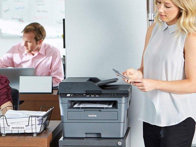 Monochrome laser printer in office
