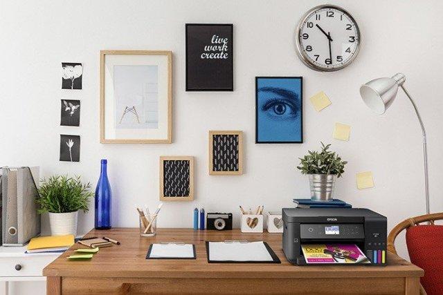 Epson printer on desk