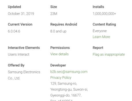 Samsung Email crosses 1 billion installs on Google Play Store