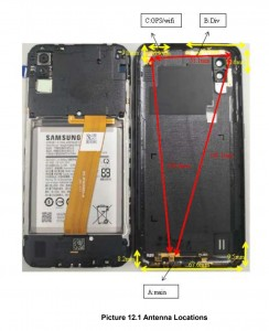 Samsung Galaxy A01 (SM-015F), images by the FCC