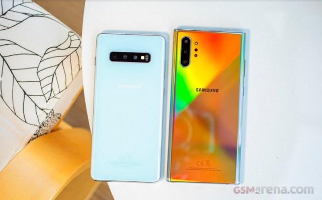 Samsung Galaxy S10 and Galaxy Note10+