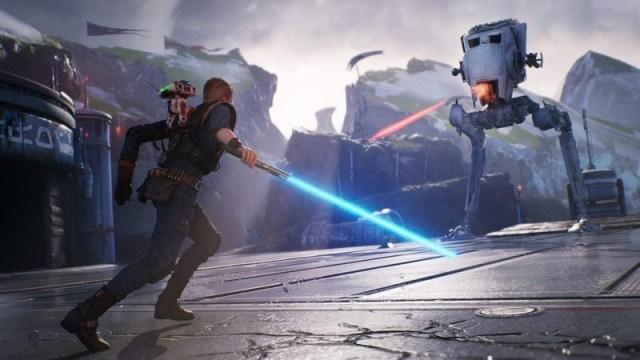 An AT-ST in Star Wars Jedi: Fallen Order.