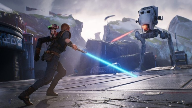 An AT-ST in Star Wars Jedi: Fallen Order.