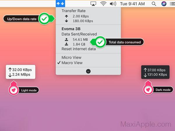 transdata macos mac 02 - TransData Mac - Surveiller votre Connexion d'Internet (gratuit)