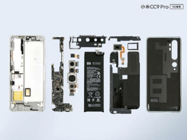 Xiaomi Mi Note 10/CC9 Pro disassembly shows how it all fits together