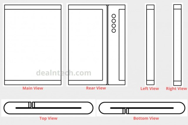 Xiaomi's latest patent shows a foldable phone with quad-cameras
