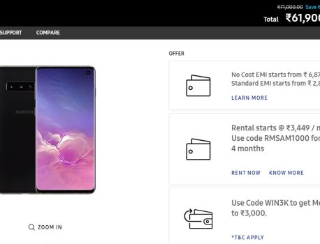 You can now rent select Samsung smartphones in India