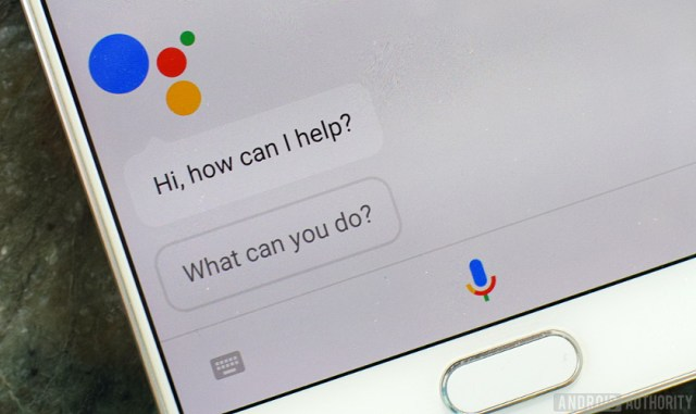 A picture of Google Assistant pulled up on a smartphone.