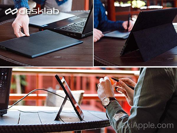 desklab ecran portable 4k tactile mac macbook iphone ipad 07 - Desklab, Ecran Portable Tactile 4k 15' pour Mac, iPhone, iPad (video)