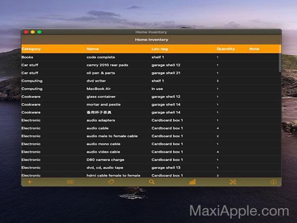 easy home inventory macos mac gratuit 01 - Easy Home Inventory Mac - Gestionnaire d'Inventaire Personnel (gratuit)