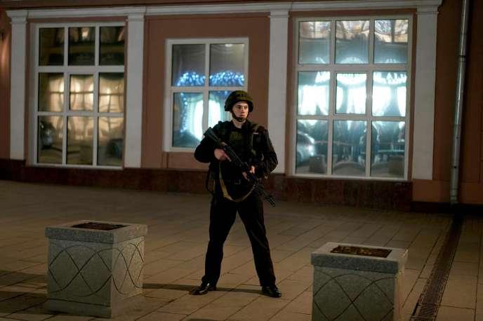 Le quartier de la Loubianka, à Moscou, a été bouclé par les forces de l'ordre le 19décembre 2019 après un échange de tirs.