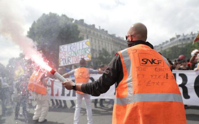 Les cheminots de la SNCF bénéficient d'un régime spécial de retraite. AFP/Thomas Samson