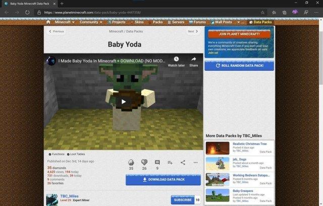 Planet Minecraft website