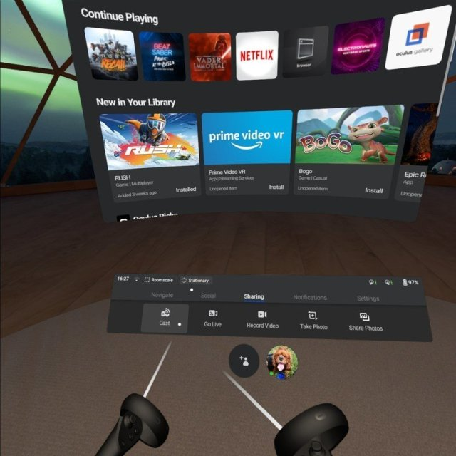 Oculus Quest casting