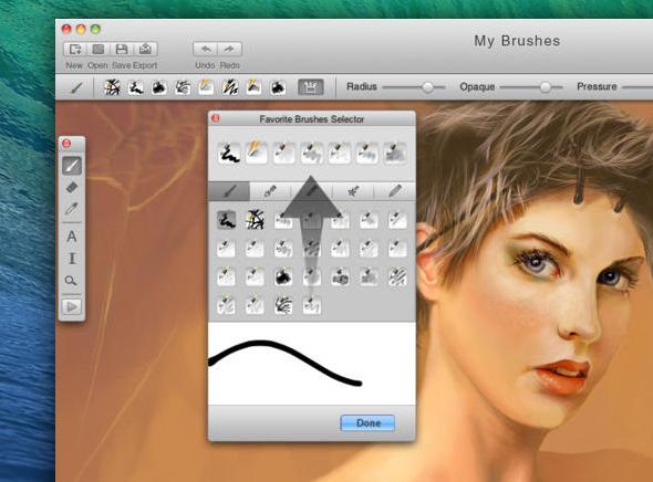 MyBrushes Mac OSX 2 - MyBrushes Mac - Outil de Dessin, Peinture et Retouche (gratuit)
