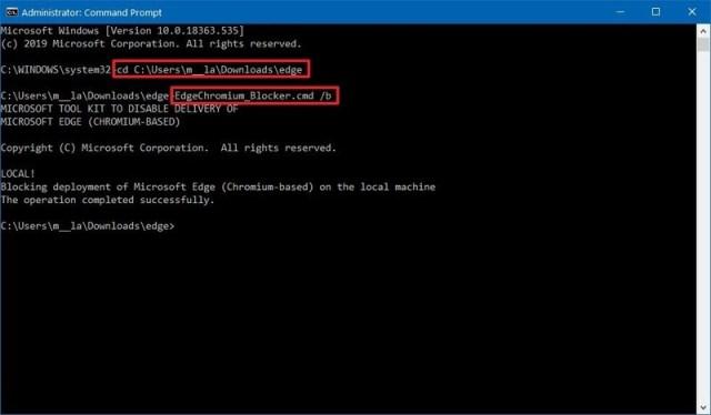 Disable Microsoft Edge Chromium automatic install