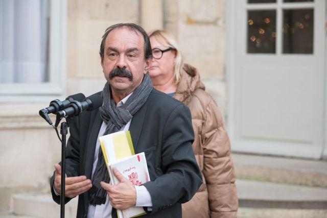 Philippe Martinez, secrétaire général de la CGT, ce mercredi à la sortie de son rendez-vous à Matignon.