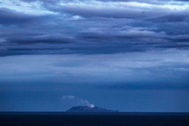 a volcano in ocean