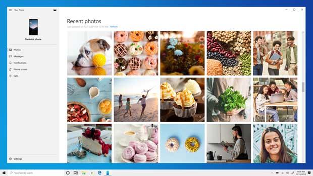 Windows 10 build 19365 - Application Mon téléphone