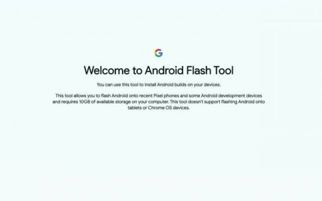 Google Android Flash Tool