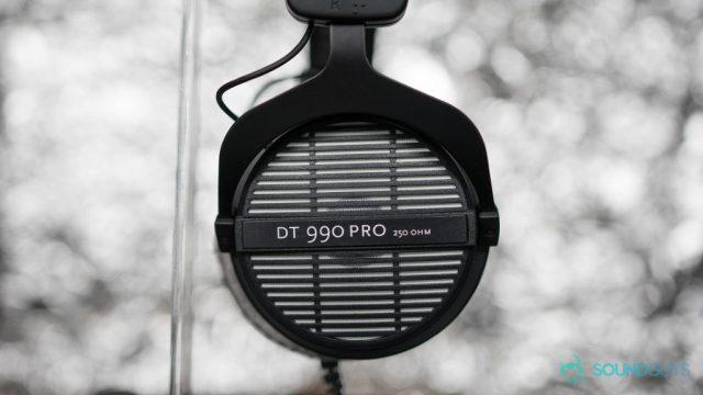 Beyerdynamic DT 990 Pro open-back headphones.