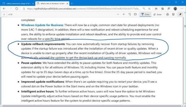 Microsoft Edge Chromium inking feature