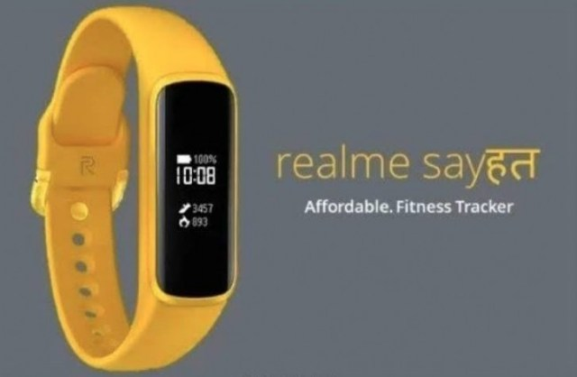 First image of Realme's Sayshat fitness band pops-up online