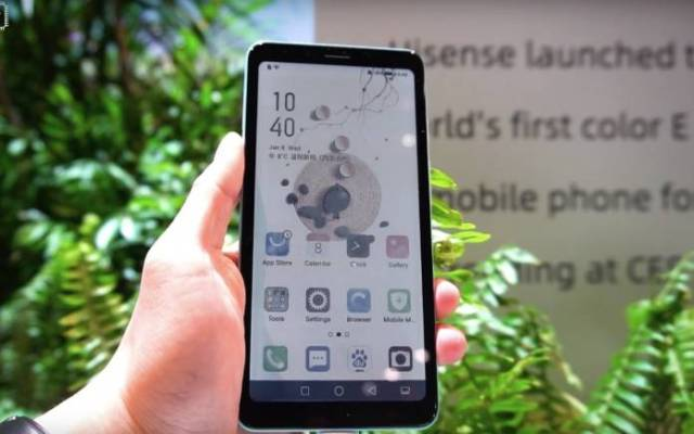 HiSense Phone Color E-ink Screen CES 2020