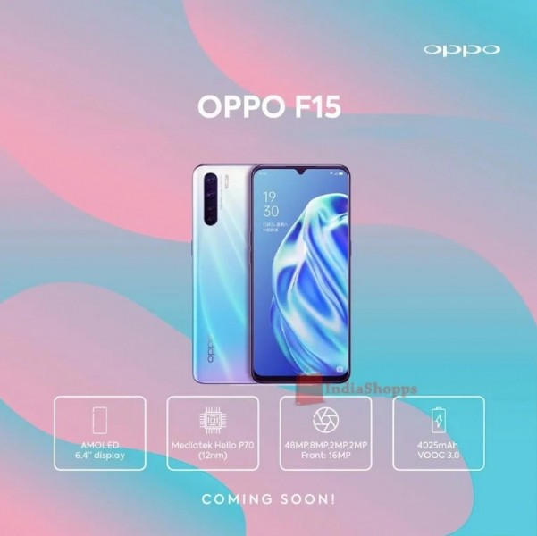 Leaked poster confirms the Oppo F15 is a re-branded A91