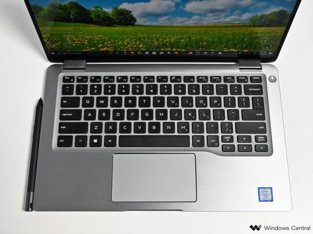 The Dell Latitude 7400 2-in-1 with a Dell Premium Active Pen